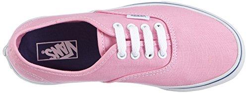 Vans Authentic, Baskets mode Mixte enfant Rose (Prism Pink/True White)