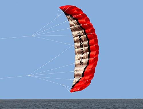 Huya Force 2.5m de Doble Línea de Cometas Parafoil Stunt con la Manija 30 m de Cuerda, Cometa de Deporte de Playa, Jardín al Aire Libre Juegos de Jardín Diversión