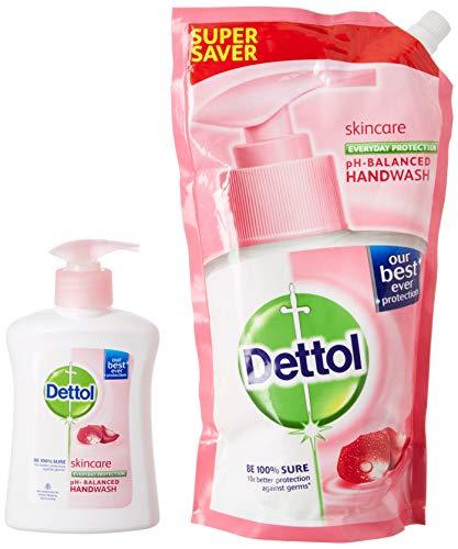 DettolSkincare Liquid Soap Refill - 750 ml and Dettol Skincare Handwash - 200 ml