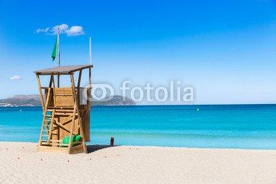 Leinwand-Bild 140 x 90 cm: 'Mallorca Can Picafort beach in alcudia bay Majorca', Bild auf Leinwand