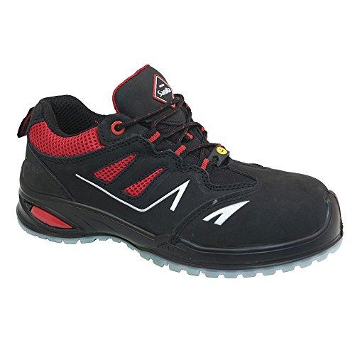 Sanita , Chaussures de sécurité pour homme rouge/noir
