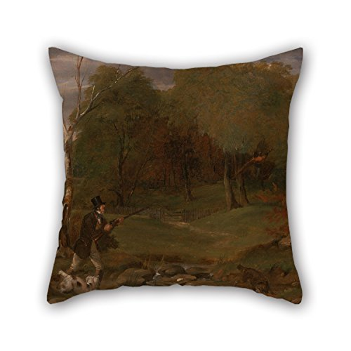 beautifulseason 20 X 20 Inches/50 by 50 cm Oil Painting Edward Duncan - Pheasant Shooting Valentine Day Pillow Cases Two Sides Ornament and Gift to Boys Home Office Boy Friend Pub Christmas Bar Duncan Miller