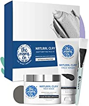 The Moms Co. Natural Clay Deep Purifying Face Kit with Clay Face Mask (100 ml) and Clay Face Wash (100 ml) wit
