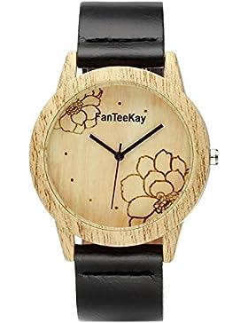 JSDDE Uhren,Vintage Holz-Muster