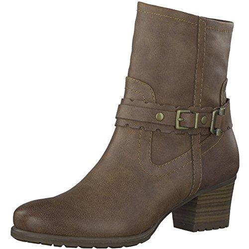 Tamaris Damenschuhe 1-1-25361-29 Damen Stiefel, Boots, Damen Stiefeletten, Herbstschuhe & Winterschuhe für Modebewusste Frau Braun (Terra), EU 38 (Jeans Stiefel Braune)