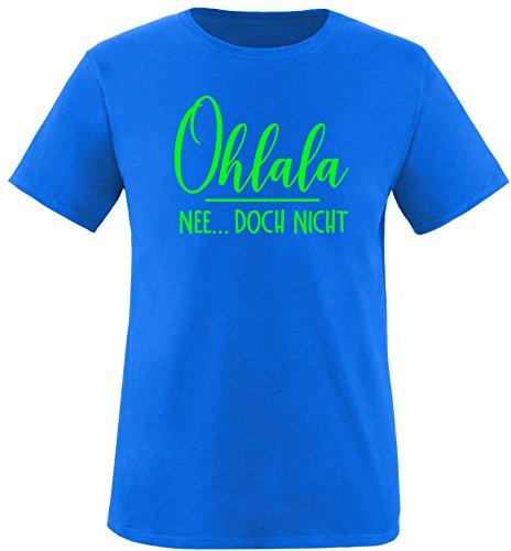EZYshirt® Ohlala - Nee...doch nicht Herren Rundhals T-Shirt Royal/Neongrün