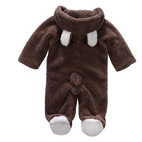 Masterein Korean Winter-Baby-Strampler Langarm mit Kapuze Overall-Säuglingskleinkind-Kleidung Overall Outfit (Spaß Und Niedliche Halloween-kostüm Ideen)