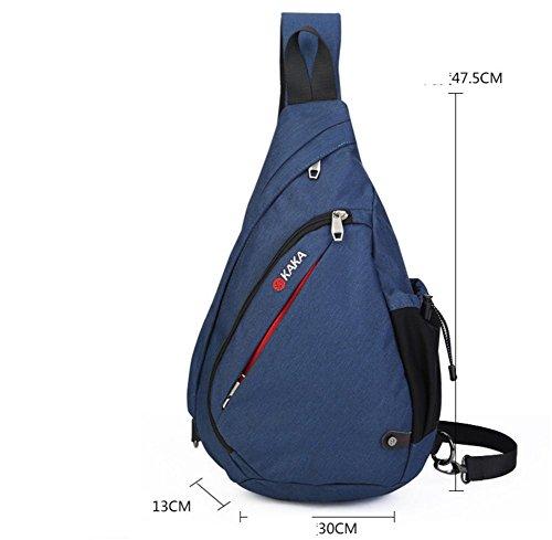 ROBAG Neue große Kapazität Brust Pack männlichen koreanische Version des Outdoor-Tropfen Pakete Erhöhung der Tasche Schultertasche Funktionstextilie blue increase