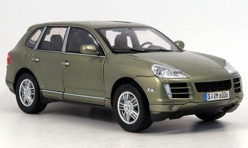 Porsche Cayenne S, met.-grün, 2007, Modellauto, Fertigmodell, Norev 1:18