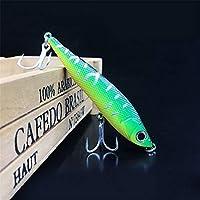 GSCshoe Long Shot Up Mouth Fish Bait, Small Fat Simulation Bait Equipo de Pesca, Floating Temptation, Natación Realista, Bass Bait The Hook Bait Difícil (tamaño : 9.5cm-22g)