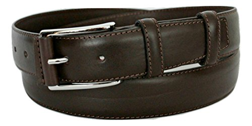 ITALOITALY - Real Leather Padded Belt, Dark Brown, 35 mm wide, Artisanal Production, Made in Italy, can be shortened