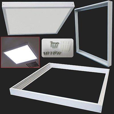 Surface Mount Frame Kit 600x600 mm LED Panel Light Ceiling Aluminum White Finish
