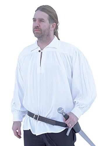 Battle-Merchant Ritterhemd, weiß - Mittelalter-Hemd LARP Größe XL (Armee Kostüme Für Männer)