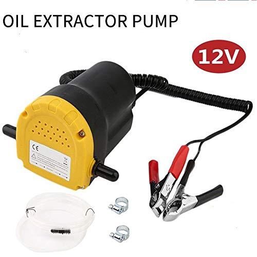 Sunsbell 12V 5A Pompa a Scavo per Aspirazione Olio Cambiare la Pompa di Trasferimento Dell'olio Sommergibile Dell'estrattore Diesel per Auto/Motocicli/Barche