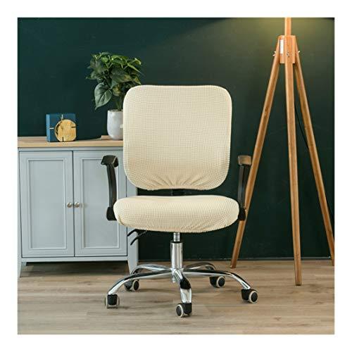 HONGBI Widerstandsfähiger Elastischer Sitzbezug für Bürostühle,Zweiteiliges Design (Stuhl Nicht im Lieferumfang enthalten) Abnehmbar Waschbar Gelb1 Set(Kissen+Rücken)