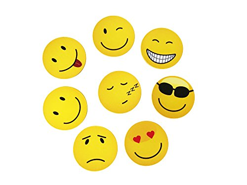 Magnete Smily Emoticon, 8 Stück im Set, Kühlschrankmagnete, Smile witzige gute Laune Magnete