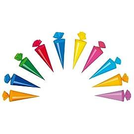 10-Deko-Schultten-Lnge-20cm-10-verschiedene-Farben
