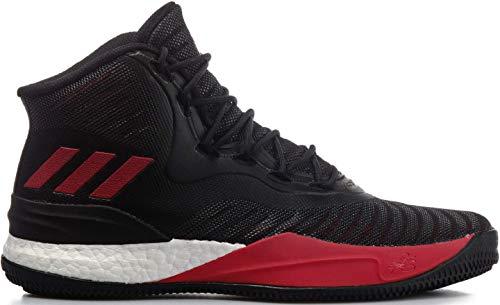 adidas Herren D Rose 8 Turnschuhe, Mehrfarbig (Core Black/Scarlet/FTWR White), 50 2/3 EU