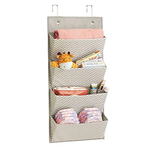 MDesign estanteria colgante para organizar la ropa de bebe - Organizador de ropa color gris oscuro/natural...