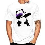 Camiseta Hombre,Longra  Camiseta de Cráneo Hombre Militares Camisetas Deporte Ropa Deportiva Camisa de Manga Corta de Camuflaje Slim fit Casual para Hombres Tops Blusa (Blanco6, L(Panda))