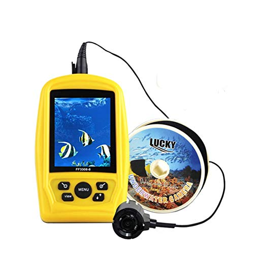 Tragbarer Wireless WiFi Fish Finder 40m Tiefe Sonar Sounder Alarm Transducer Fishfinder mit Colorful Display