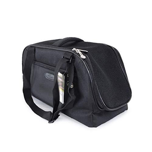 Airline Approved Soft Sided Pet Carrier, TSA-Transporttasche Für Katzen, Welpen Und Kleintiere, Zusammenklappbarer Zwinger, Flugzeug-, Auto- Und Zugreisen, (Color : Black, Size : L)