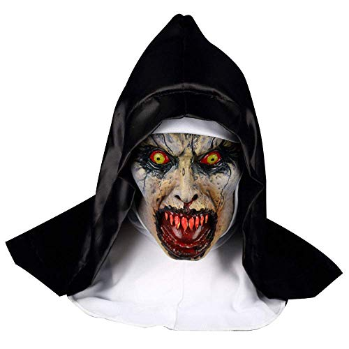 YaPin Film Nonnen Trauer 2 Horror Nonne Maske Hood Scary Halloween Geisterhaus Screaming Bloody Mask Show