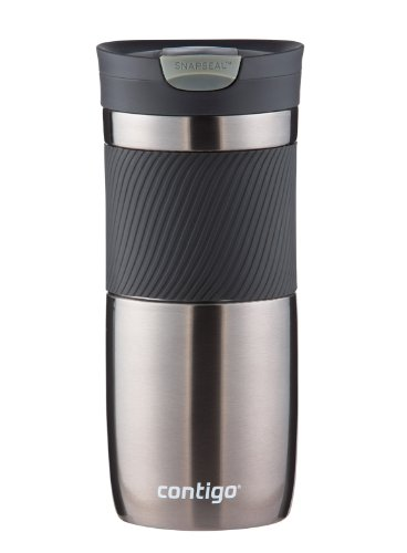 Contigo SnapSeal Vacuum-Insulated Stainless Steel Travel Mug, 16-Ounce, Gunmetal by Contigo