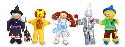 Marionetas de dedo de El mago de Oz (5 unidades) Tellatale T-2379