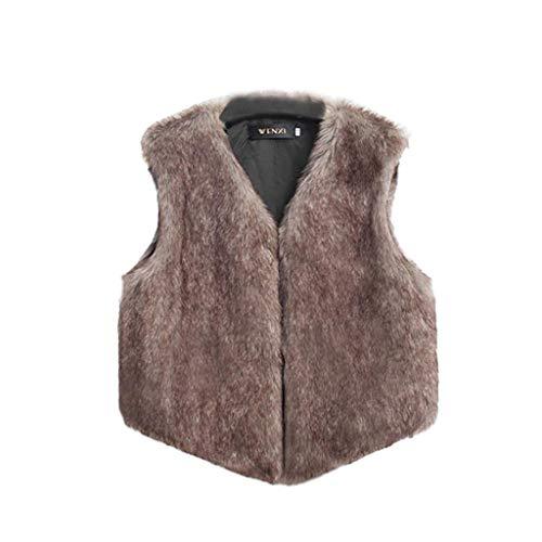 BHYDRY Frauen-Weste-Sleeveless Mantel-Oberbekleidung-Lange ()