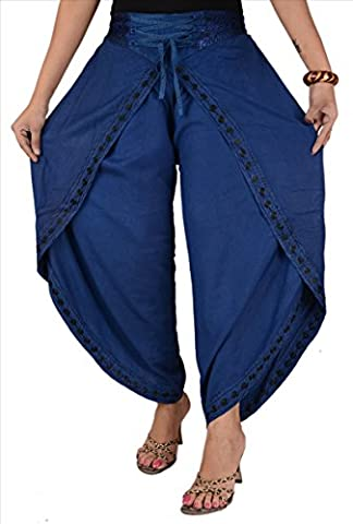 Skirts & Scarves Women's Rayon Embroidered Aladdin Dhoti / Harem Pant