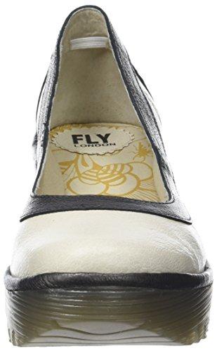 FLY London Damen Yano838fly Pumps Elfenbein (Offwhite/graphite)