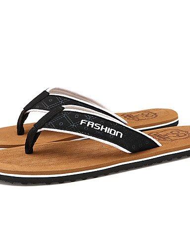 NTX/Herren Schuhe Outdoor/Casual Stoff Flip Flops, Schwarz/Braun brown-us7 / eu39 / uk6 / cn39