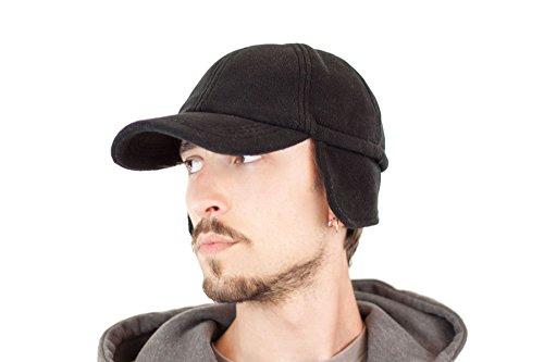 - Funktionscap mit Ohrenschutz - Basecap mit Fleece und Ohrenklappen für Damen und Herren (Flapper Männer)