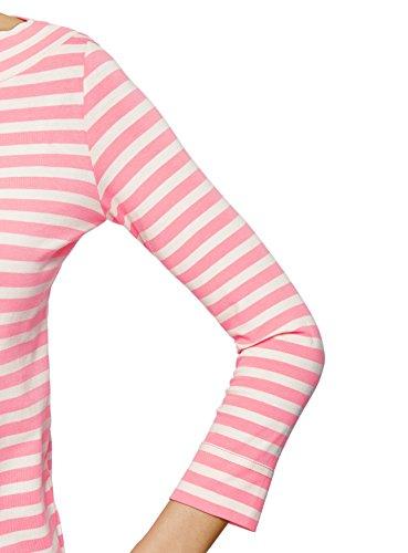 oodji Collection Femme T-Shirt à Manche 3/4 Rose (3041S)
