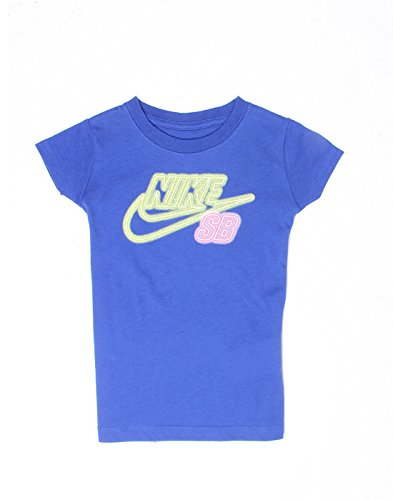 Nike Kids Girls' T-Shirt (617845927944_Dark Blue_5 - 6 Years)