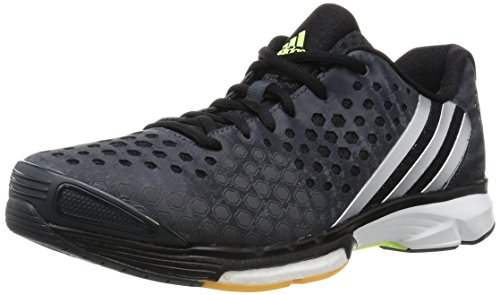 adidas Damen Volleyballschuhe Volley Response Boost dark grey/silver met./frozen yellow f15 41 1/3