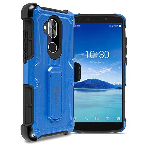 CoverON Spectra Serie T-Mobile REVVL 2 Plus Tasche, Alcatel 7 Tasche, strapazierfähige Schutzhülle mit verstellbarem Gürtelclip, blau