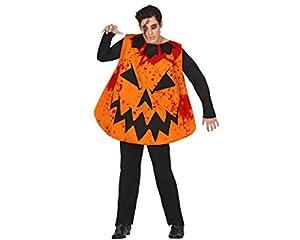 Atosa-26578 Disfraz Calabaza Sangriento, Color Naranja, M-L (26578