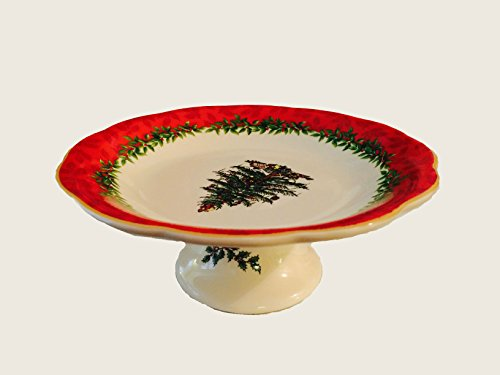 Spode Christmas Tree Annual Footed Candy Dish 7inches by Spode Footed Candy Dish