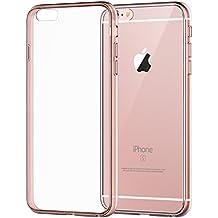 """Funda iPhone 6s, JETech Apple iPhone 6/6s 4.7 Funda Carcasa Case Bumper Shock- Absorción y Anti-Arañazos Borrar Espalda para iPhone 6 4.7"""" (Oro Rosa) - 3194"""