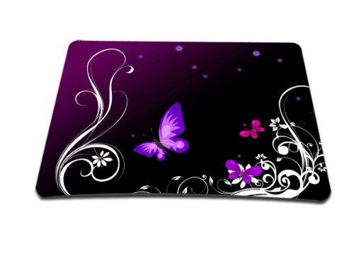 Luxburg® Design Mousepad Mausunterlage Mauspad, Motiv: Schmetterlinge lila