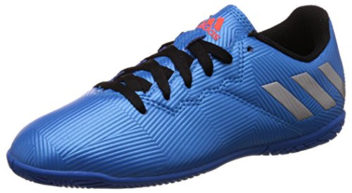 adidas Boy's Messi 16.4 In J Shoblu, Msilve and Cblack Sports Shoes - 13 Kids UK/India (31.5 EU)  available at amazon for Rs.2659