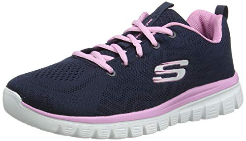 Skechers Damen Graceful-GET CONNECTED-12615 Ausbilder, Blau (Navy/Pink), 39 EU