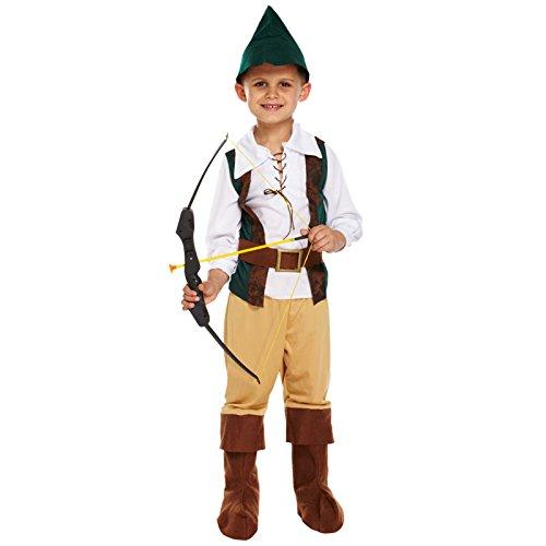 HENBRANDT - Costume da Robin Hood, per bambino, misura M