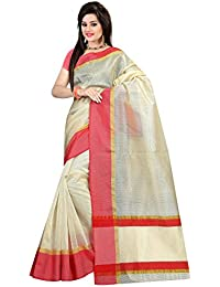 Sidhidata Textile Women's Blended Cotton Silk Solid Plain Saree With Unstitched Blouse Piece For Party Wear Casual...