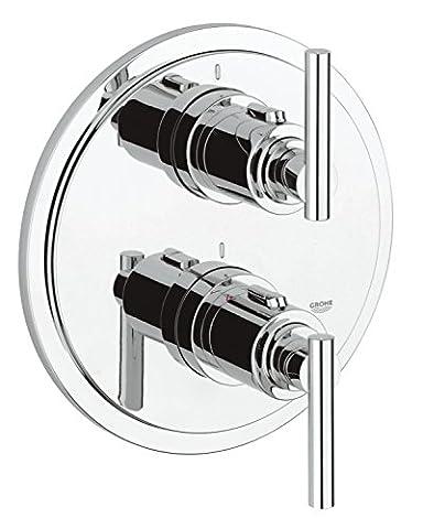GROHE Atrio Unterputz Thermostat Duscharmatur für Rapido T, Jota Griff, chrom 19398000