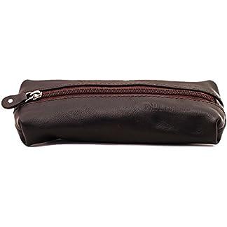41jyKcddkhL. SS324  - PAUL MARIUS kit de lápices de cuero marrón oscuro bolígrafos Kit LE PLUMIER DE MARIUS