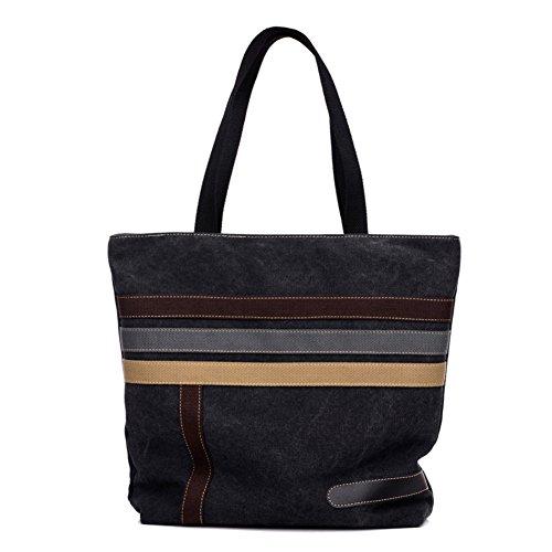 Magic Zone , Damen Schultertasche schwarz schwarz (Quilted Large Handtasche Tote)