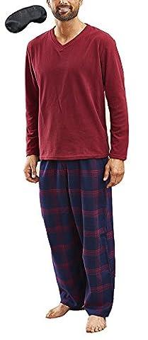 i-smalls Ltd - Ensemble de pyjama - Pyjama - Col V - Manches Longues - Homme - rouge - Large